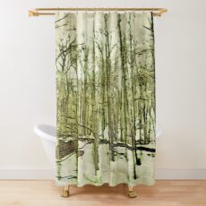 Nature Lovers Gift - Into the Woods Part Deux - Neutral Colors Decor Shower Curtain