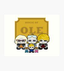 O'BABYBOT: House of Ole Family Art Print