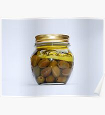 Jar of Home Made Lemon Olives  Poster