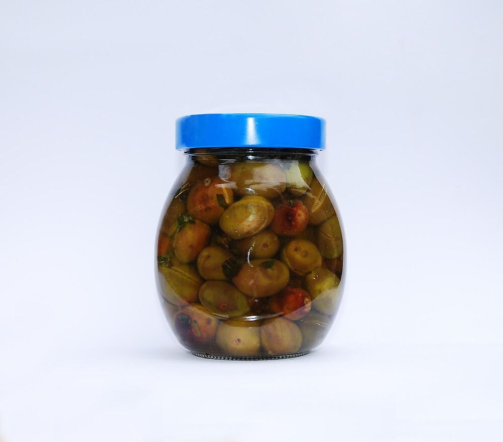 Jar of Home Made Olives  by jojobob