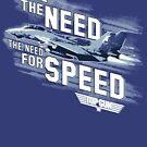 Top Gun - Ich verspüre das Bedürfnis nach Speed Dark von Candywrap Design