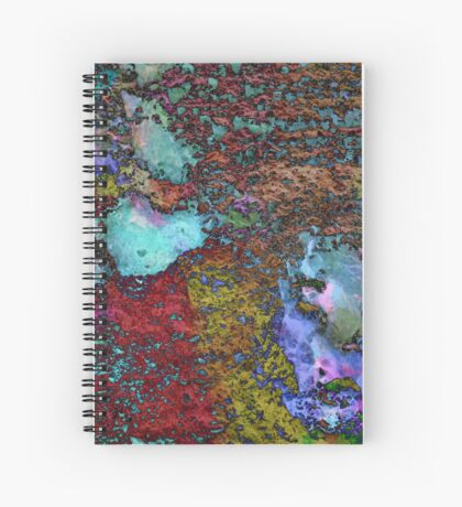 Paw Prints Lilac and Turquoise Pads Spiral Notebook
