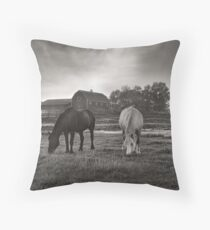 Evening Grazers Throw Pillow