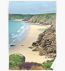 Pednvounder Beach from Logans Rock Poster