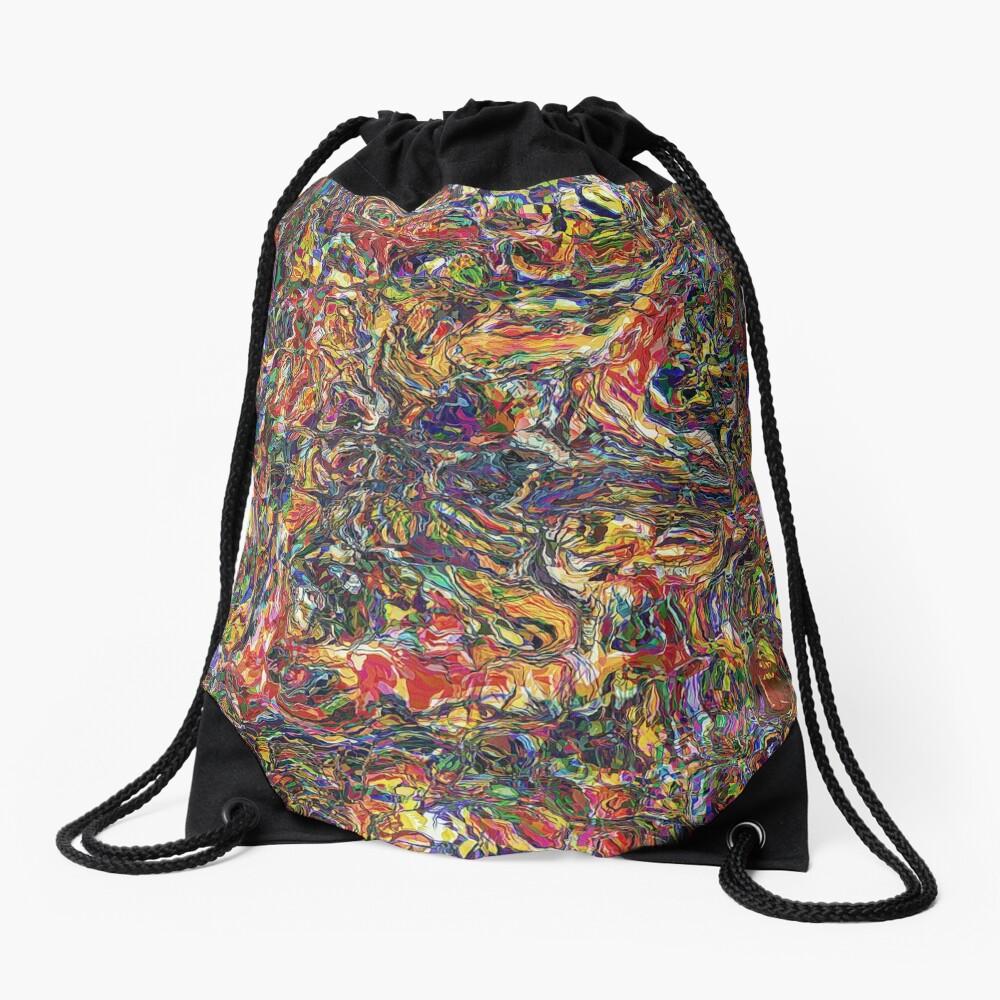 Chaos of Colors Drawstring Bag