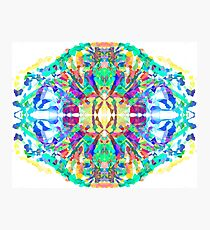 Abstract Psychedelic Gem  Photographic Print