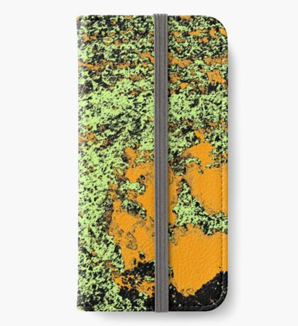 Paw Prints in Orange, Lime and Black iPhone Wallet