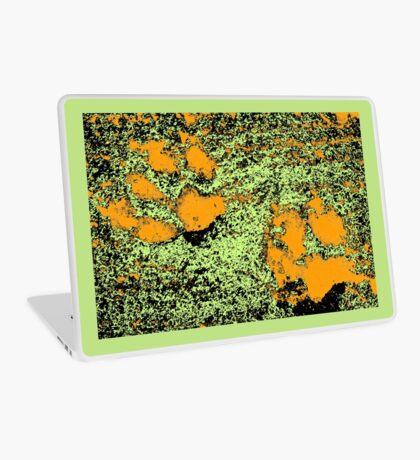 Paw Prints in Orange, Lime and Black Laptop Skin