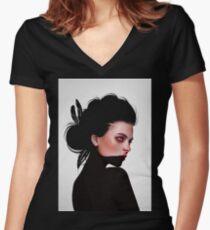 Olyv Fitted V-Neck T-Shirt