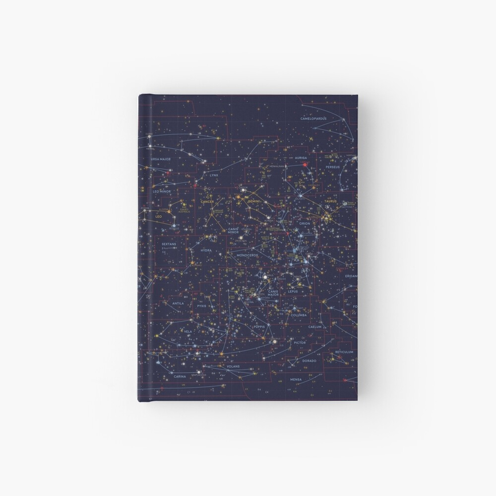 All the stars you can see from Earth Hardcover Journal