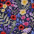 Wildflower Pattern - Dark by abbilaura