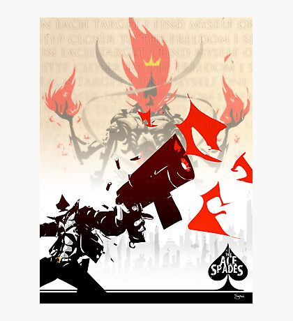The Ace of Spades Photographic Print