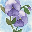 Violet Pansies by Martina Fagan