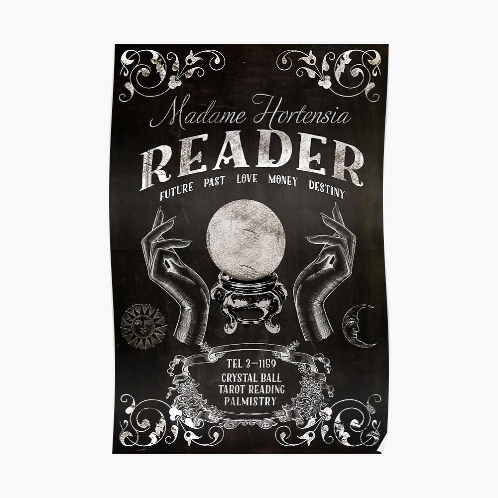 Crystal Ball Reader Vintage Sign | Poster