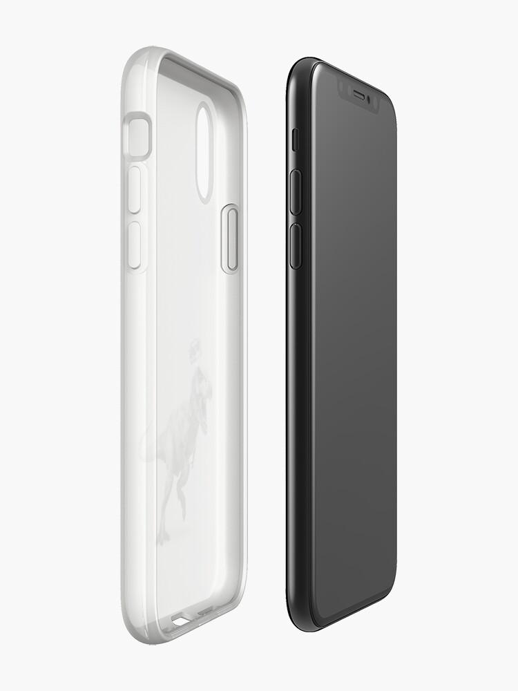 Vista alternativa de Funda y vinilo para iPhone T-Rex Crown