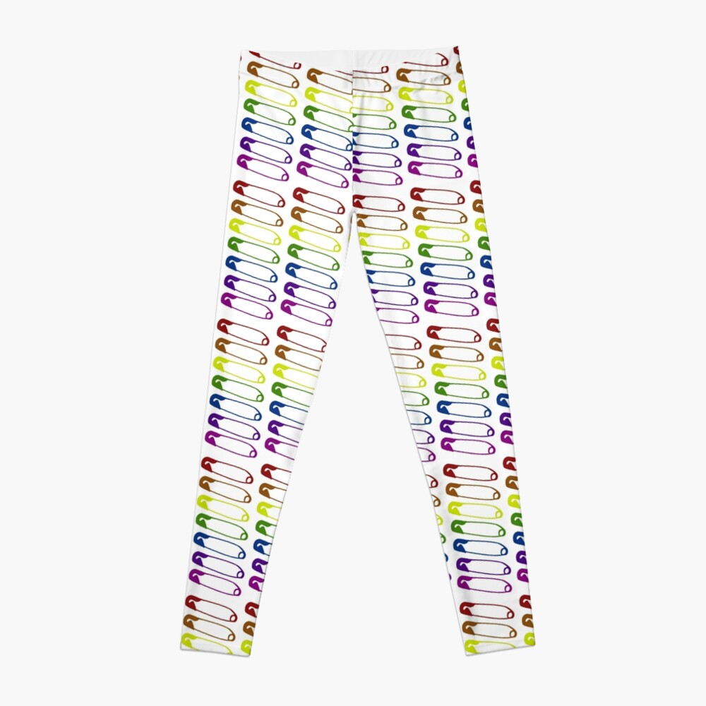 Safe with me rainbow safety pins Leggings