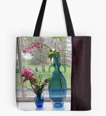 Bouquets in Blue Vases Tote Bag