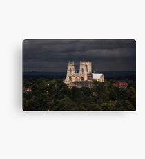 Clearing storm, York Minster Canvas Print