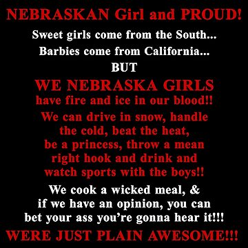 Nebraskan girl and proud by bennetthuskers