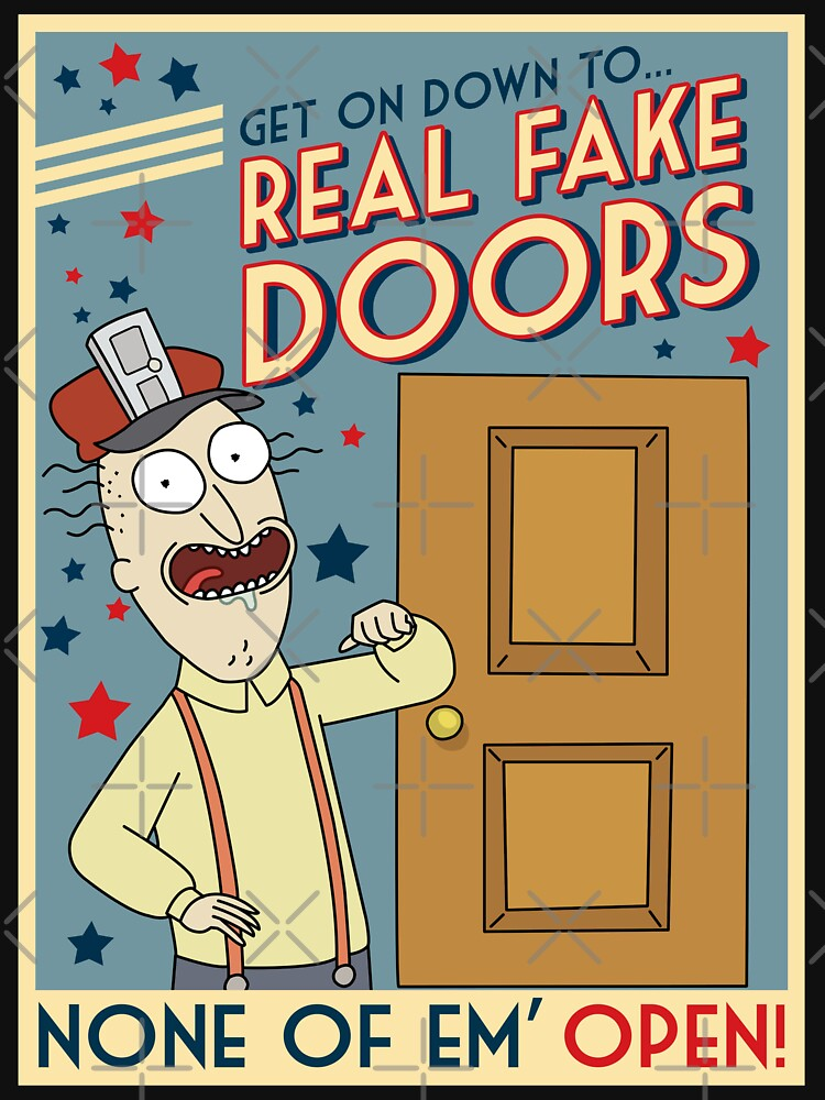 Funny Rick and Morty Real Fake Doors Interdimensional Cable Advertisement  by MintedFresh