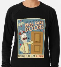 Funny Rick and Morty Real Fake Doors Interdimensional Cable Advertisement  Lightweight Sweatshirt