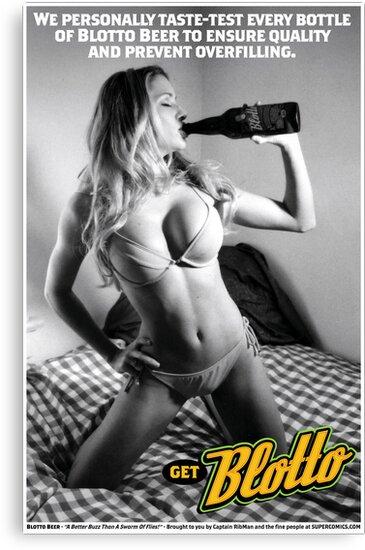Blotto Beer Poster - Captain RibMan by Captain RibMan