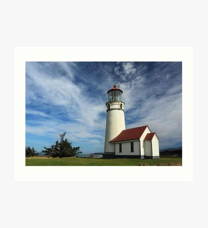 The Lighthouse At Cape Blanco Art Print