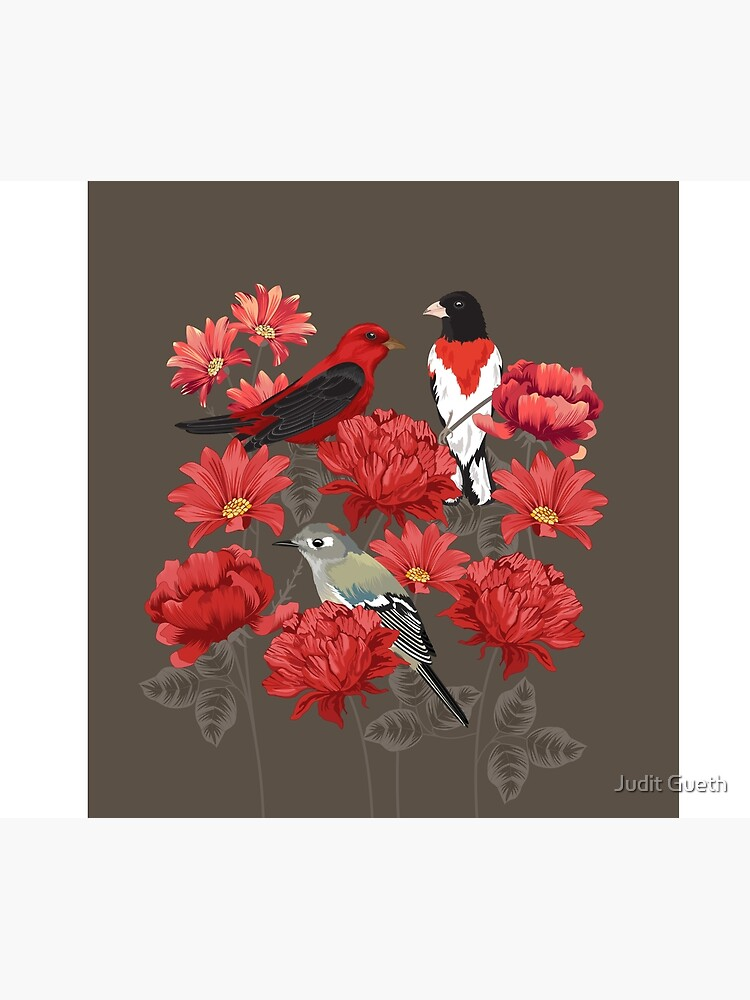Birds and Roses by juditgueth