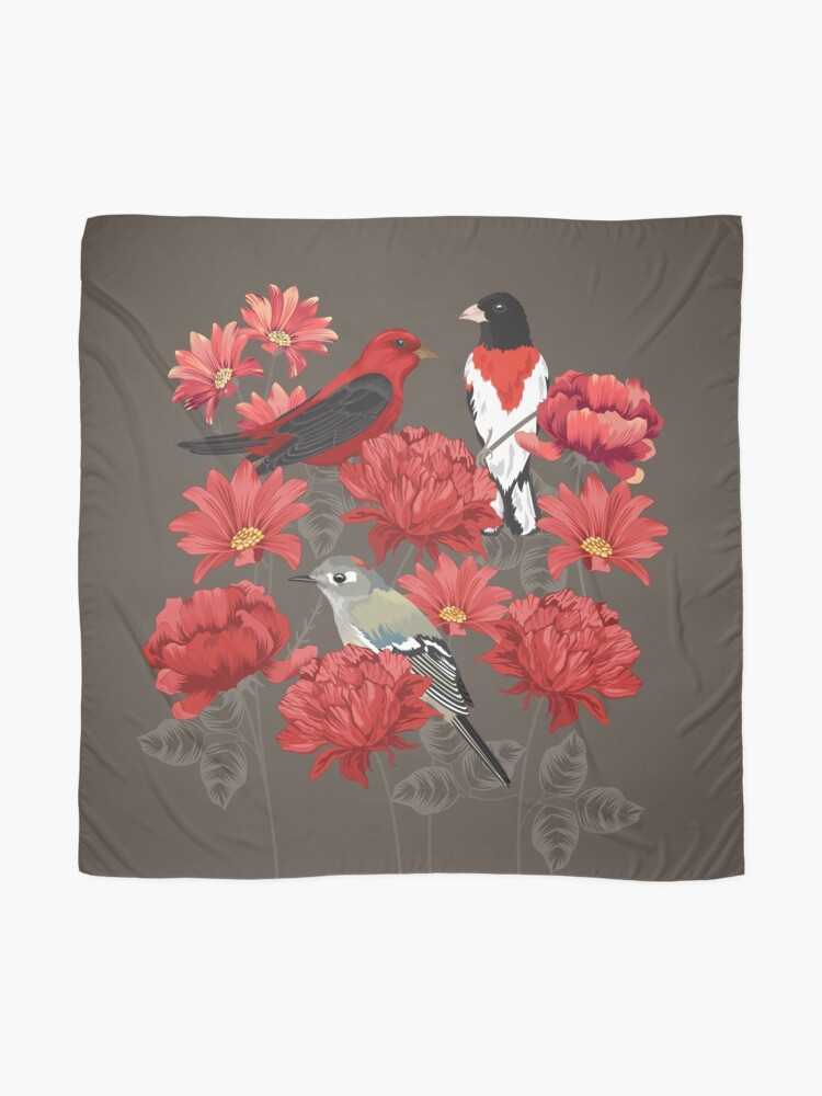 Alternate view of Birds and Roses Scarf