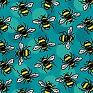 Bumble Bees by woahtherepickle