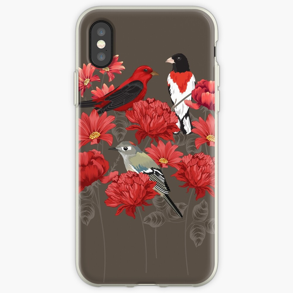Birds and Roses iPhone Cases & Covers