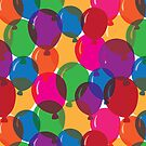 Rainbow Party Balloons by woahtherepickle