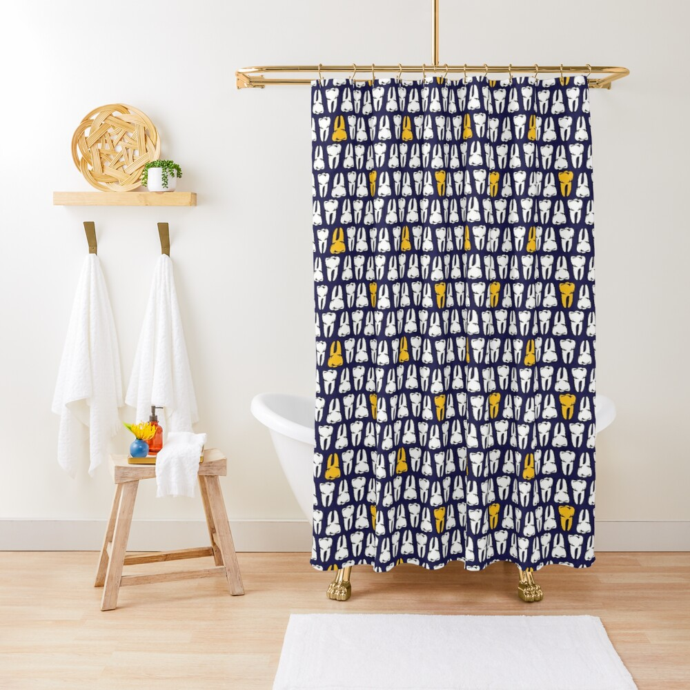 Gold Tooth Shower Curtain