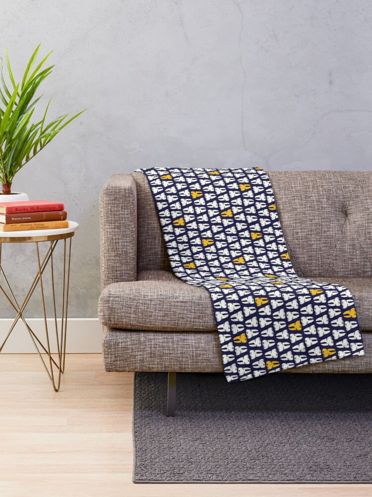 Alternate view of Gold Tooth Throw Blanket