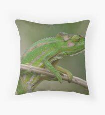 Chameleon Gymnastics Throw Pillow