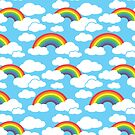 Sunny Sky and Rainbow Clouds by woahtherepickle