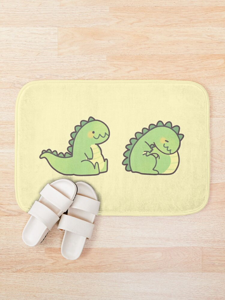Alternate view of Cute Chubby Sleepy Dragon - Green Bath Mat