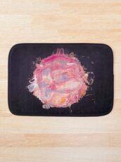 Abstract Planet - Bubblegum Bath Mat