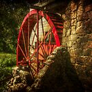 The Gristmill's Waterwheel by Christine Annas
