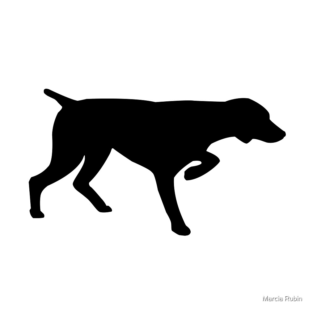 Quot German Shorthair Pointer Silhouette Quot By Marcia Rubin