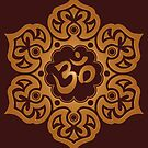 Brown Lotus Flower Yoga Om von jeff bartels