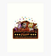 Five Nights at Freddy's Freddy Fazbear's Pizza FNAF logo Art Print