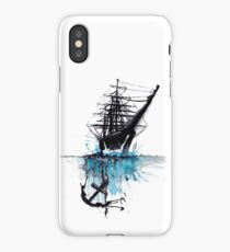 Rigged Sail Ship Watercolor iPhone Case/Skin