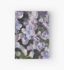 Cuaderno de tapa dura Hortensias de bebé azul-púrpura