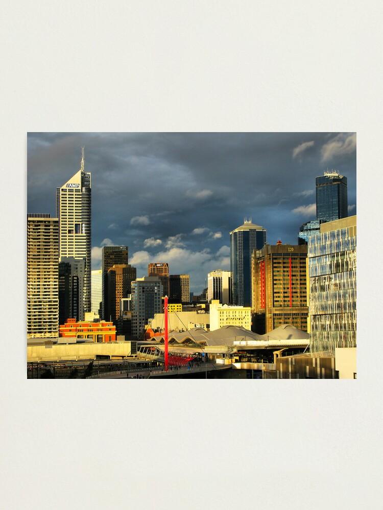 Alternate view of Golden city Photographic Print