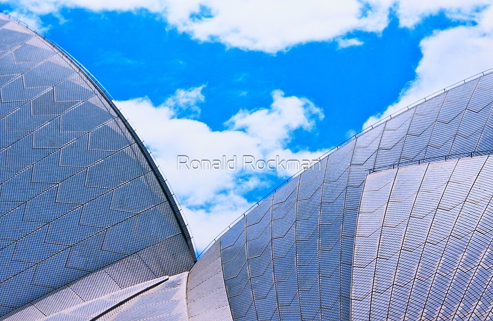 Opera House Double Sail by Ronald Rockman