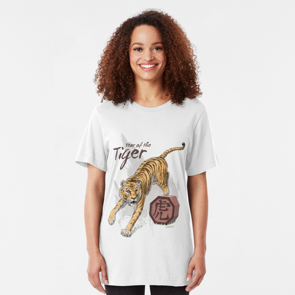 Year of the Tiger by Stephanie Smith Slim Fit T-Shirt