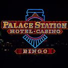 Palace Station Casino Sign at night, Las Vegas, Nevada by Henry Plumley