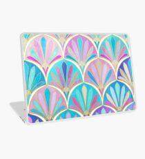 Glamouröse Zwanziger Jahre Art-Deco-Pastell-Muster Laptop Folie