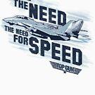 Top Gun - Ich fühle das Bedürfnis nach Geschwindigkeit Nur weißer Hintergrund von Candywrap Design